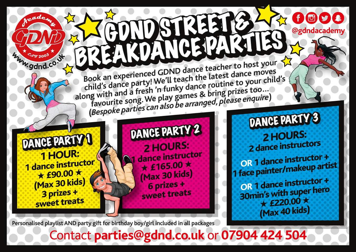 Dance Parties South East London - Childrens birthday party ideas east london